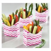 24 papir snack bokse - pink