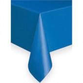 Blå plastduk