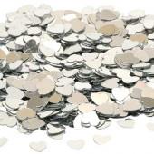 Konfetti med hjärtan - silver