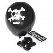 Sorte balloner med dødningehoved til piratfesten eller sørøverfesten - skulls balloner sorte