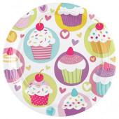 Cupcake papperstallrikar