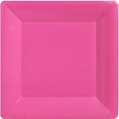 Firkantet pink paptallerkner