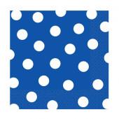 Blå servietter med vita prickar