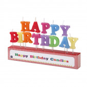 Happy Birthday fødselsdagslys/kagelys til pige- og drengefødseldag