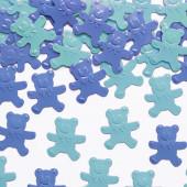 Blå konfetti bamser