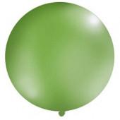 Stor ensfarvet ballon - 1m - pastel grøn