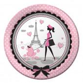 Party i Paris papperstallrikar