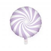 Hvid og lilla folie ballon (Candy design)