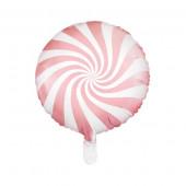 Hvid og pink folie ballon (Candy design)