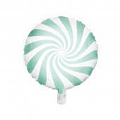 Hvid og mint folie ballon (Candy design)