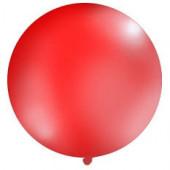 Stor enfärgad ballong - 1m - pastellröd
