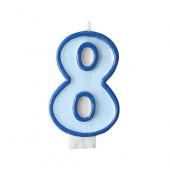 Födelsedagsljus - blått - tal 8