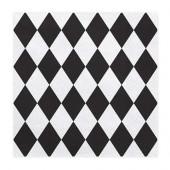 Servietter med sort harlekin mønster