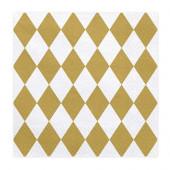 Servietter med guld harlekin mønster