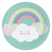 Rainbow & Cloud paptallerkner