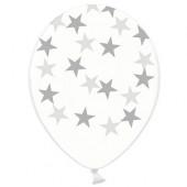 Gennemsigtige balloner med sølv stjerner
