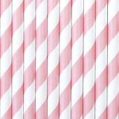 Papirsugerør pink med striber