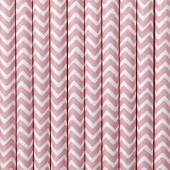 Papirsugerør med pink zig zag