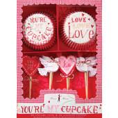 Cupcake sæt - Valentine