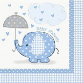 Blå elefant servietter