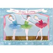 Meri Meri födelsedagskort - Ballerina