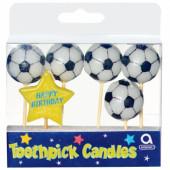 Fotbolls-födelsedagsljus