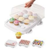 Wilton kak- och muffinsbox - 3 i 1.