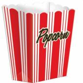 Popcornbägare - röda ränder
