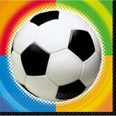 Fotbollsservietter med färger