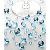Bordkristaller  - aqua