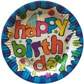 Papperstallrikar med Happy Birthday