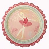 Ballerina paptallerkener og engangsservice til fødselsdag