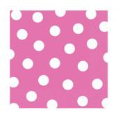 Rosa servietter med vita prickar
