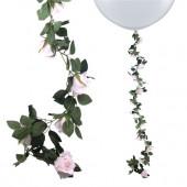 Blomster guirlande - pink roser