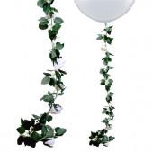 Blomster guirlande - hvide roser