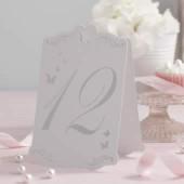Fjärilsplaceringskort med nummer