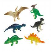 8 mini Happy Dinosaur figurer
