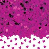 Konfetti med hjärtan - rosa
