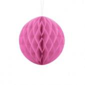 Pink papirkugle 10 cm