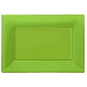 Lime grønne serveringsfade