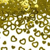Konfetti guld hjerter (metallisk)