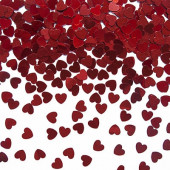 5mm røde konfetti hjerter