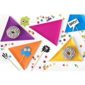 Triangulär monster papperstallrikar