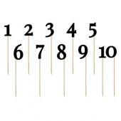 Bord nummer tal på pind