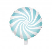 Hvid og blå folie ballon (Candy design)
