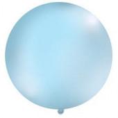 Stor enfärgad ballong - 1m - pastellblå