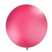 Stor enfärgad ballong - 1m - pastell-fuchsia