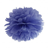 Pompom navyblå 25 cm