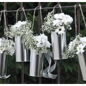Dekorativa silverburkar - 5 st