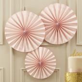Papir rosetter - pastel pink